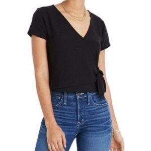 Madewell Texture & Thread | Wrap Top, Size S